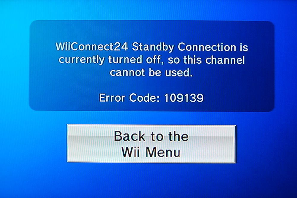 Wii news and forecast still requires standby the average gamer wii forecast channel photo of error message wiiconnect24 standby connection is currently turned off thecheapjerseys Gallery