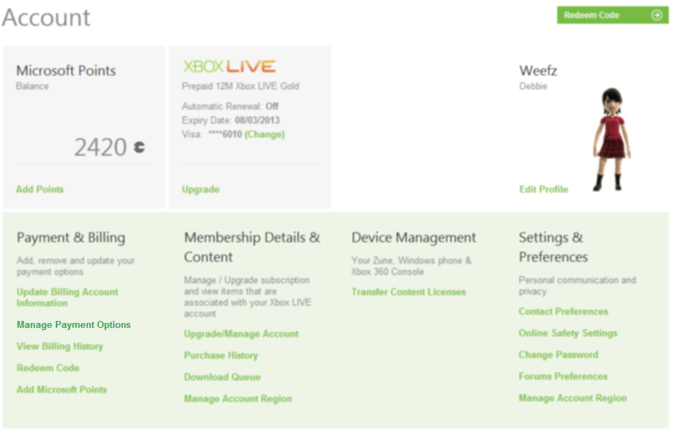 Remove Your Credit Card Details From Xbox Live Online ...
