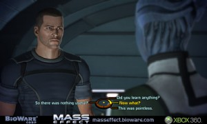Screenshot featuring title character John Shephard