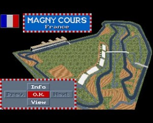 F1 GP 1992 - Magny Cours Track Layout