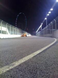 Turn 17 of the Marina Bay Street Circuit in 2009