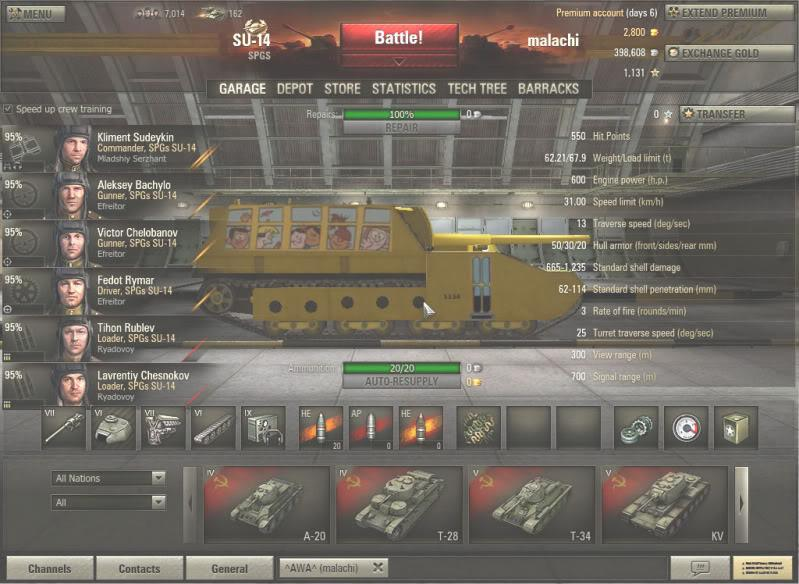 There's been a lot of talk on the wot forums about tank spgs being