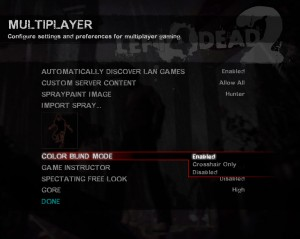 Left 4 Dead 2 - Colour Blind Settings