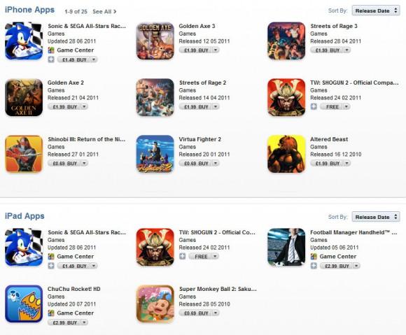 SEGA - iTunes Sale