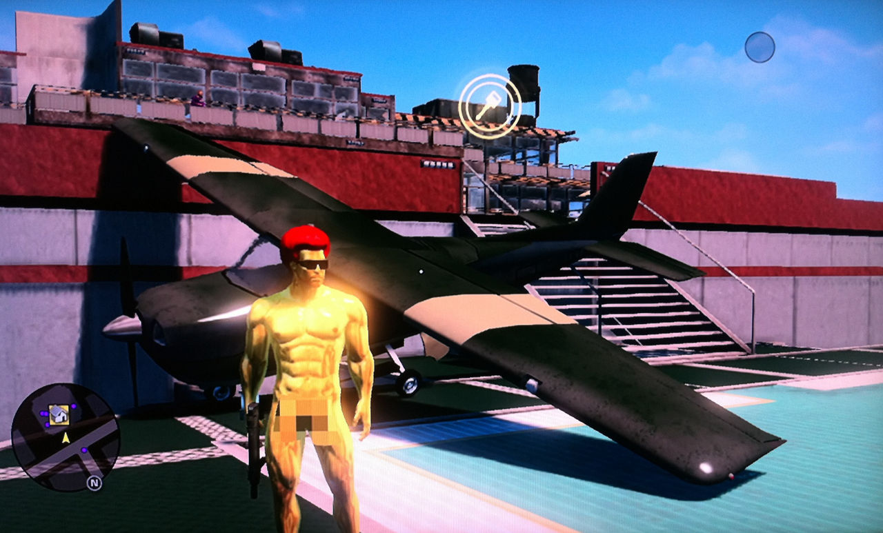 Saints Row: The Third - Aircraft On Helipad