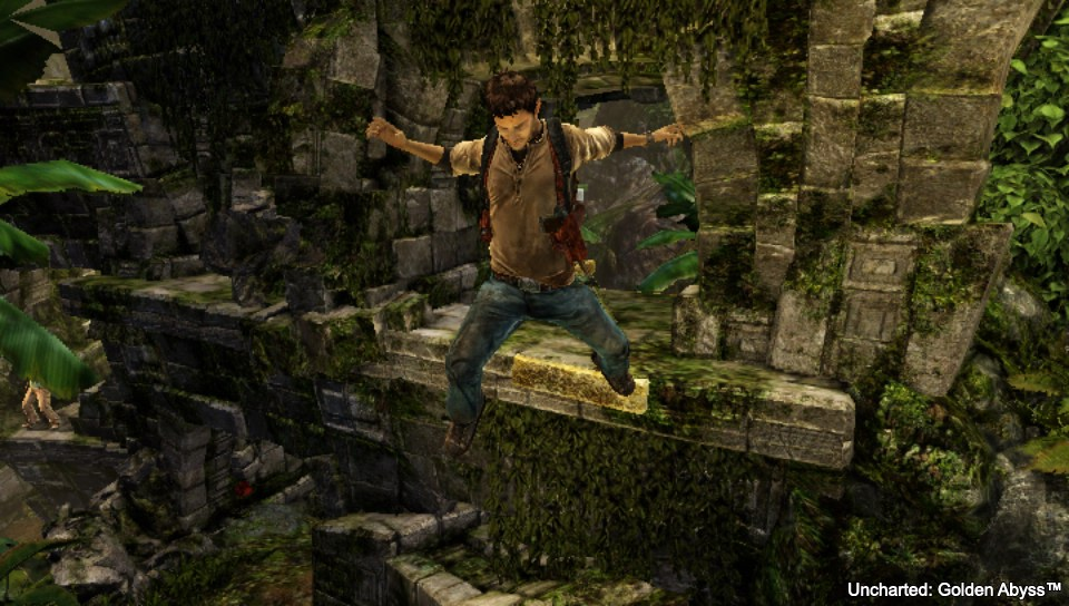 Uncharted Golden Abyss - Drake Leaping