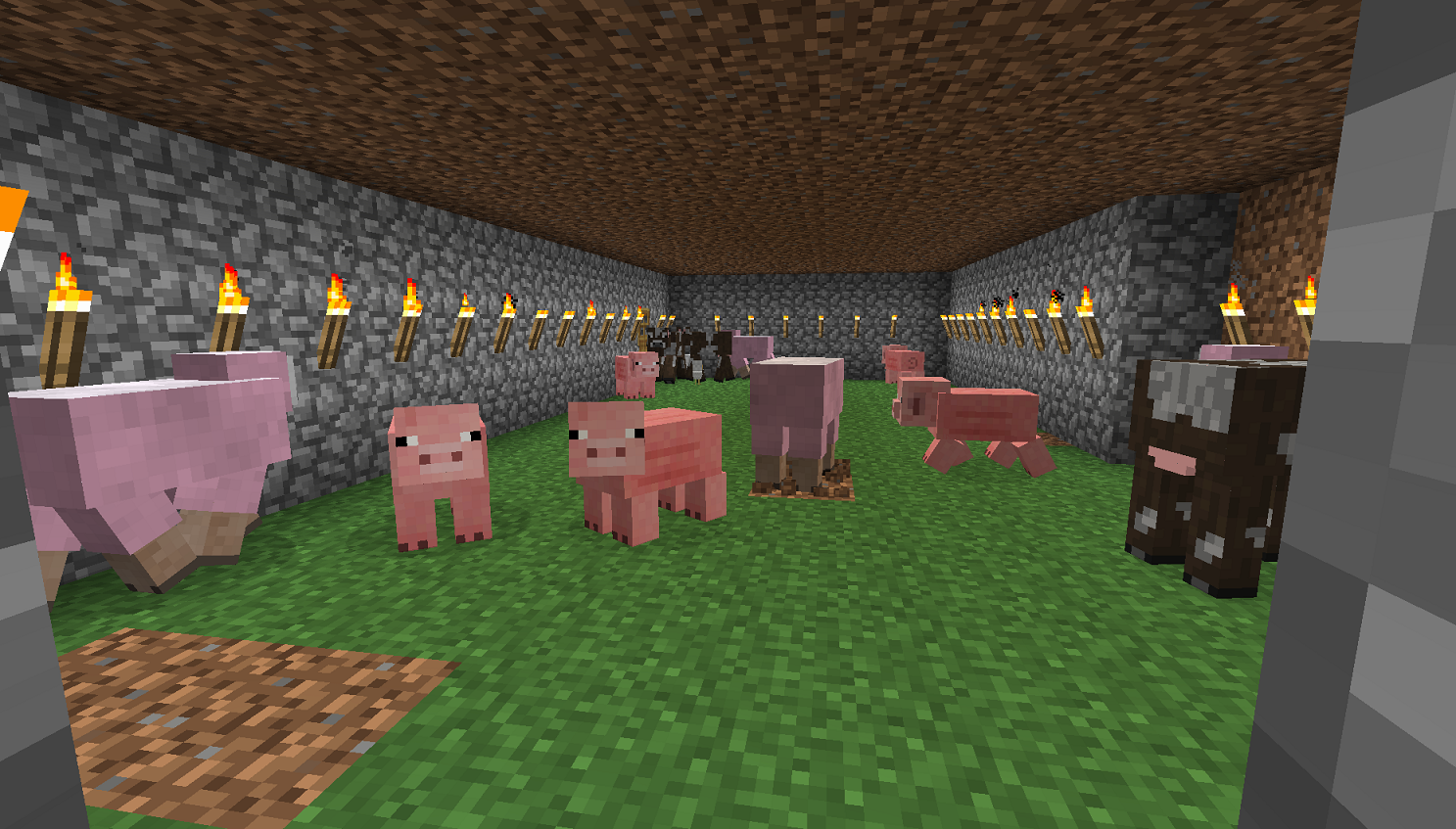 Minecraft Sheared Sheep. Or are they piggies?
