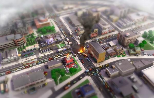 SimCity Concept Art Crash