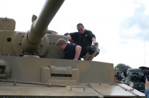 Tankfest - Victor Kislyi And A Tiger I Tank