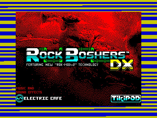 Rock Boshers DX - Title Screen