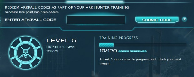 Defiance Arkfall Entry Screen