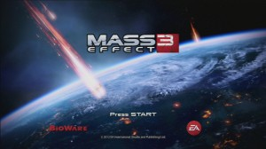 Mass Effect 3 - Start Screen