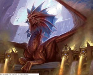 Want to play a card with a bigass dragon on it? With MTG you can!