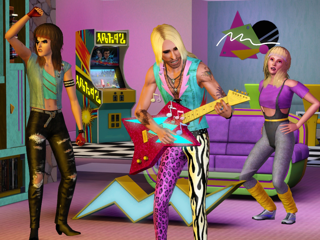 The Sims 3 70s80s90s - 80s living_room