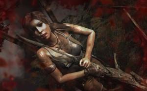 Tomb Raider - Lara Croft Implaced by a Tree