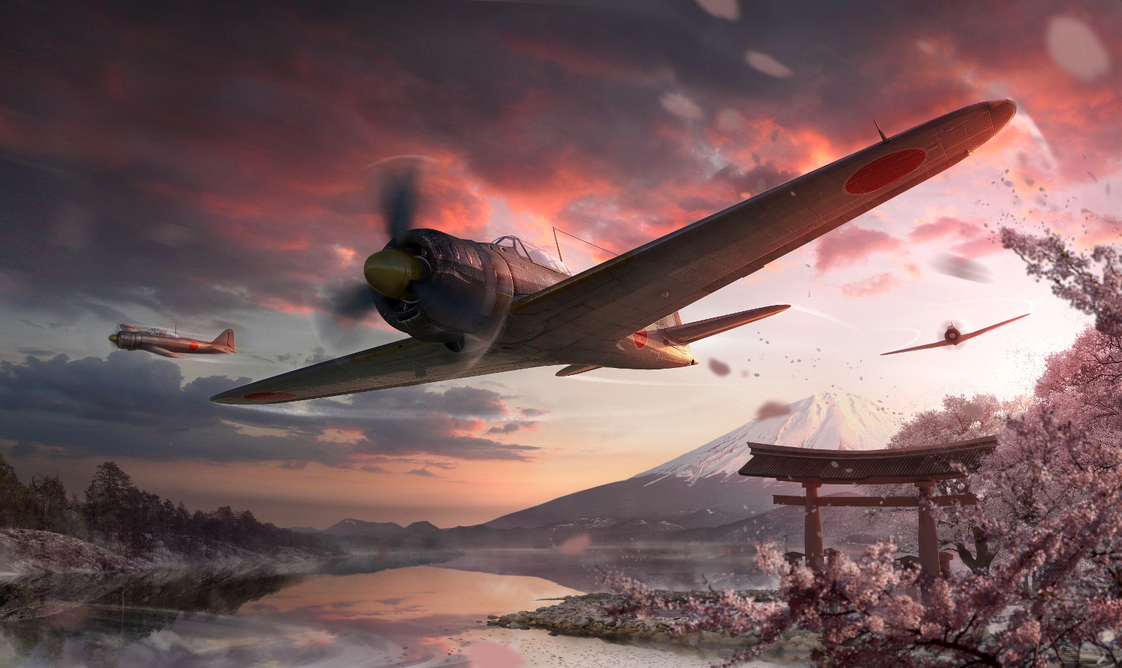 World of Warplanes - Japanese Planes Artwork