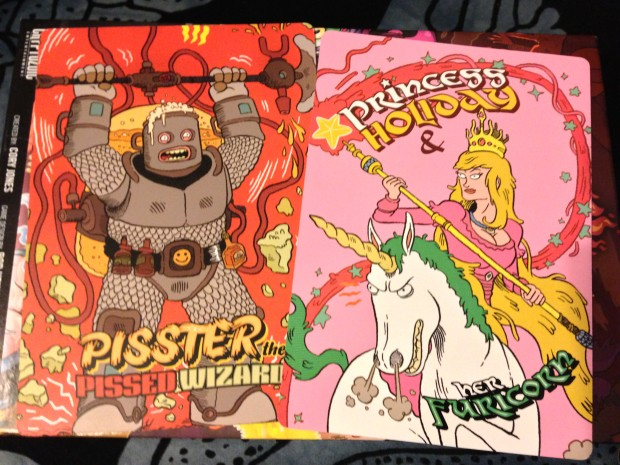 Just 2 of the available character sheets. They don't really have a point but the art is kind of awesome.