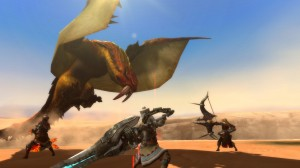Monster Hunter 3 Ultimate Wii U - Sand Barioth Flying