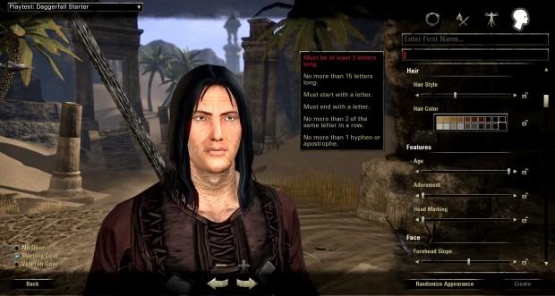 TESO Leak - Character Creator