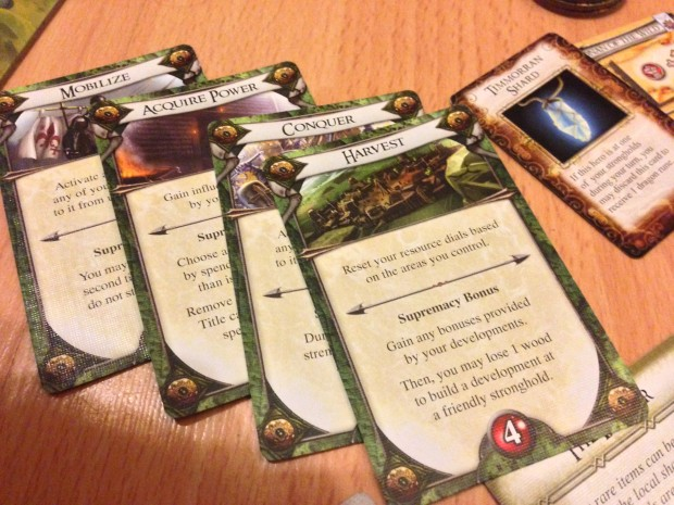 Order cards detail the actions plays can undertake and also setup what order players take them.