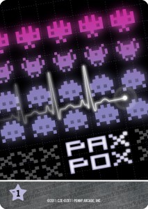 Pax Pox fills up your hand, does nothing and loses you points at the end of the game. Get rid of it or find a way to pass it to another player.