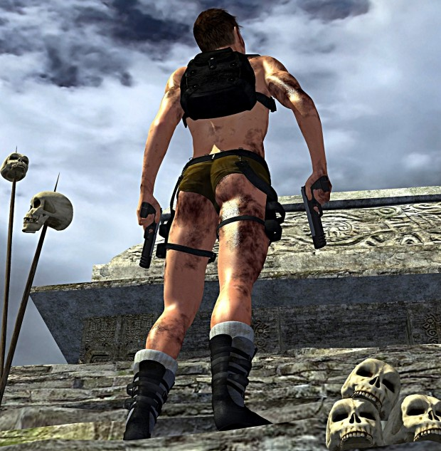 Nate - Male Lara Croft Bum Shot