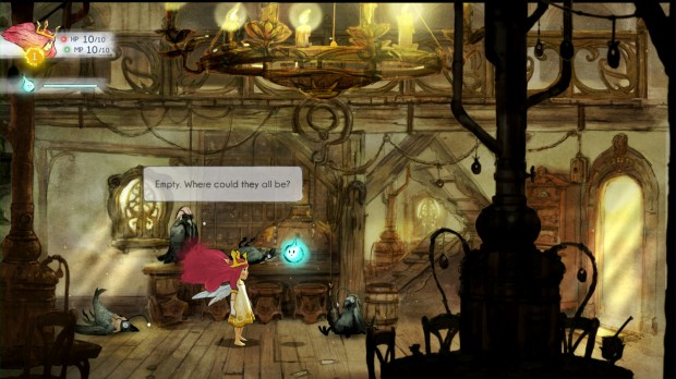 Child of Light Screenshot - Aurora and Ingniculus