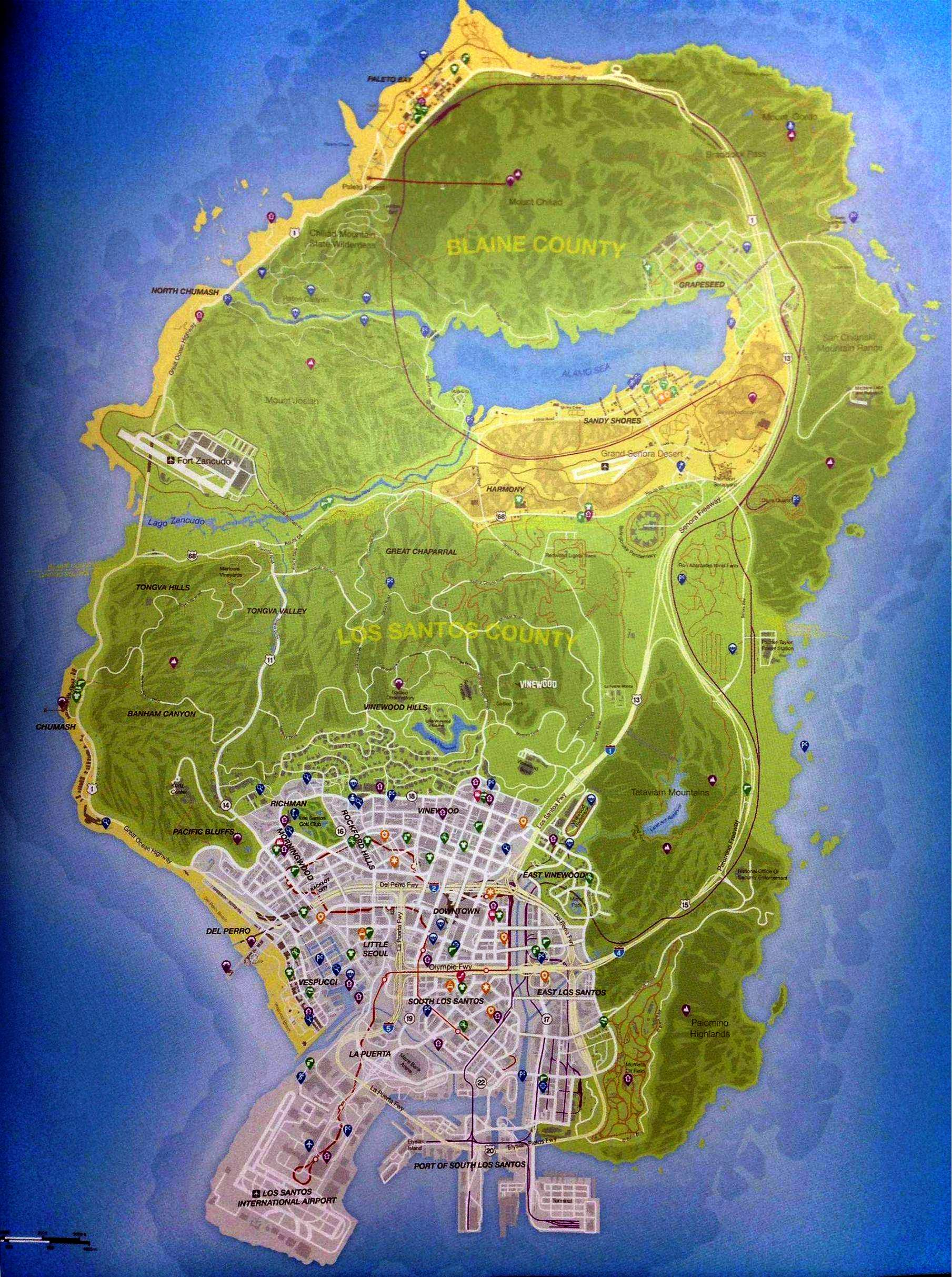 Map grand theft auto v - Gta V Map