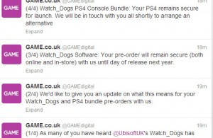 GAMEDigital Twitter Watch Dogs DelayPS4