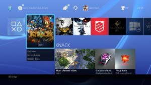 PlayStation 4 - Home Screen