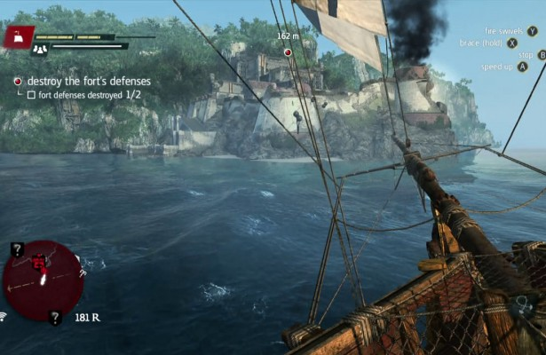 Assassins Creed IV Black Flag Fort Combat