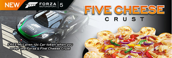 Forza 5 Cheese Crust Pizza Hut
