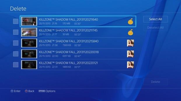 PS4 Delete 4