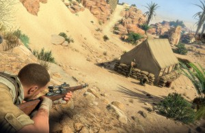 Sniper Elite III - Prone vs Tent Guard