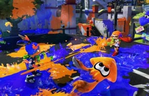 Wii U Splatoon - Orange vs Blue Squid