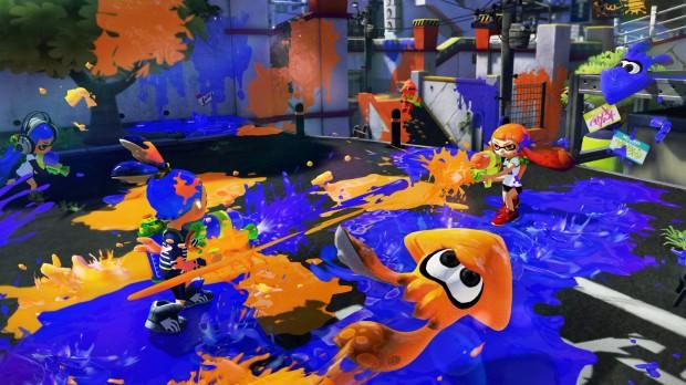 Wii U Splatoon - Orange vs Blue Squid