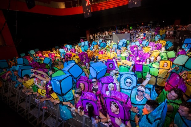 Tetris World Record Morph Suits Church