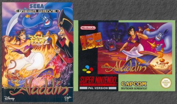Aladdin Mega Drive vs SNES
