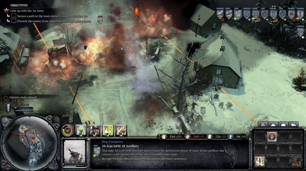 COH2AA - Gameplay Dog Support Artillery 2