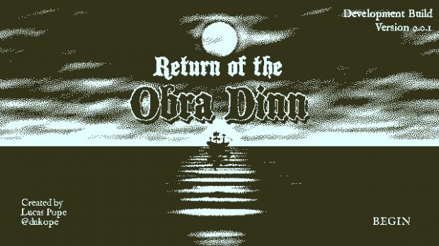 Return of the Obra Dinn - Dev Build title