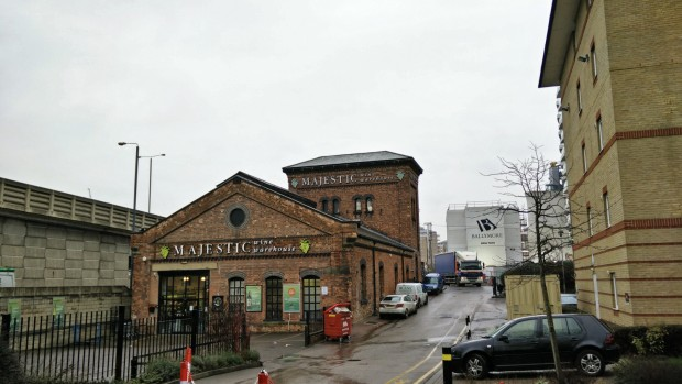 Blackwall Majestic Wine Warehouse Exterior