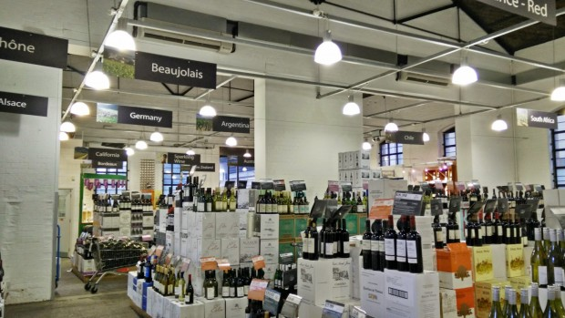 Blackwall Majestic Wine Warehouse Interior
