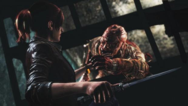 Res Evil Revelations 2 Ep 1 - Claire Zombie Grab