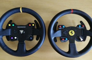 Thrustmaster 28 VG TM Leather 28 GT Wheel Add-On and T300 Ferrari GTE