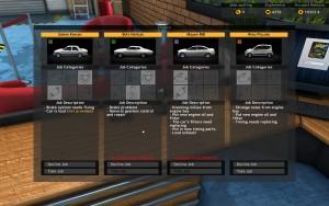 Car Mechanic Sim 2015 - Job menu