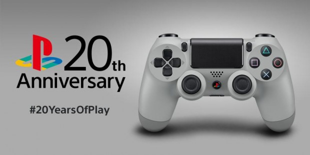 PS4 DS4 20th Anniversary Grey